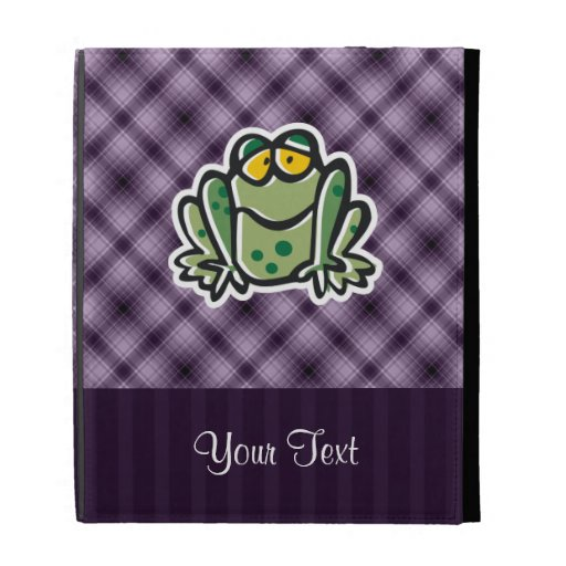 Cute Frog; Purple iPad Cases