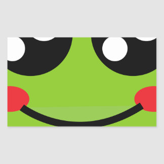 Cute Frog Rectangular Sticker