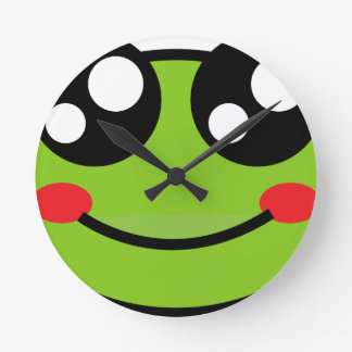 Cute Frog Round Clock