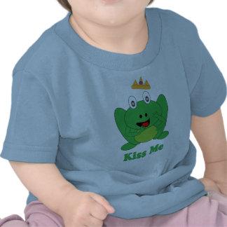 """Cute Frog Says """"Kiss  Me"""" Fairytale Tee Shirt"""