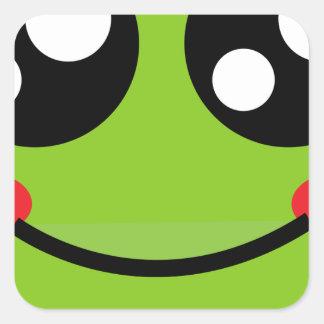 Cute Frog Square Sticker