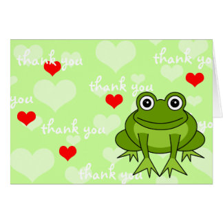Cute Frog Thank You Card