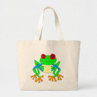 Cute frog jumbo tote bag