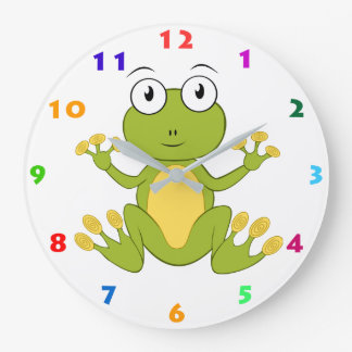 CUTE FROG (WITH NUMBERS) Kids Wall Clock