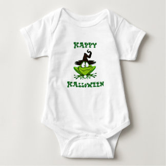 Cute Frog with Witch Hat Baby Bodysuit
