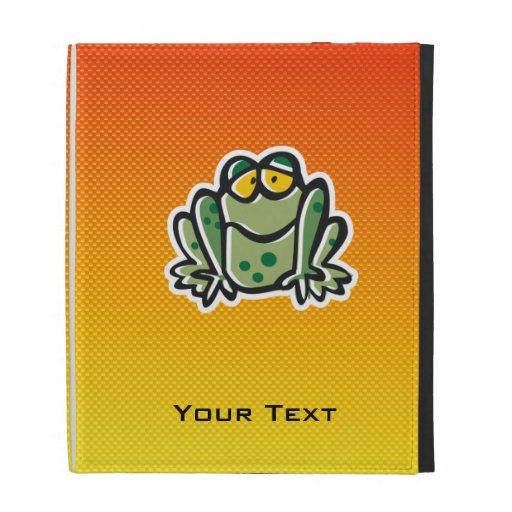 Cute Frog; Yellow Orange iPad Case