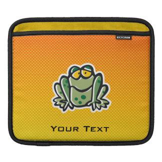 Cute Frog; Yellow Orange iPad Sleeve