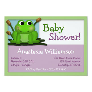 Cute Froggy Colorful Baby Shower Invitations