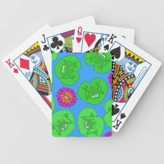 Cute frogs bicycle playing cards