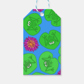 Cute frogs gift tags