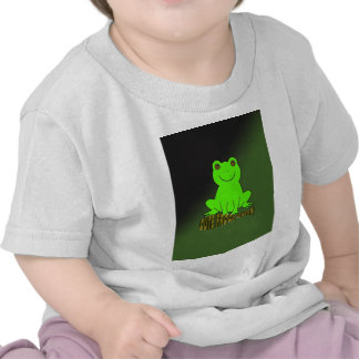 Cute Frogs Green With Background Tshirts
