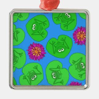 Cute frogs metal ornament