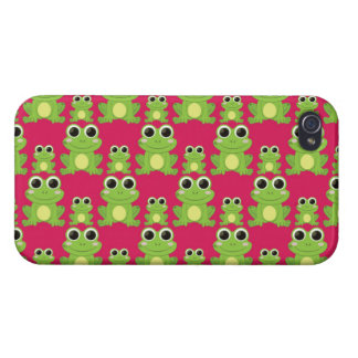 Cute frogs pattern cases for iPhone 4
