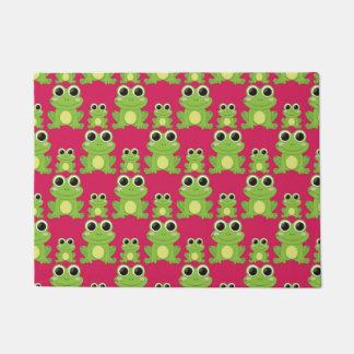 Cute frogs pattern doormat