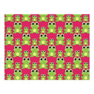 Cute frogs pattern flyer