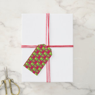 Cute frogs pattern gift tags