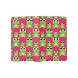 Cute frogs pattern large moleskine notebook
