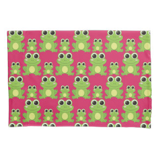 Cute frogs pattern pillowcase