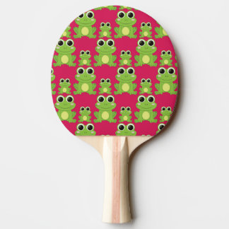 Cute frogs pattern ping pong paddle