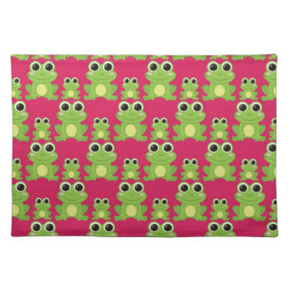 Cute frogs pattern placemat