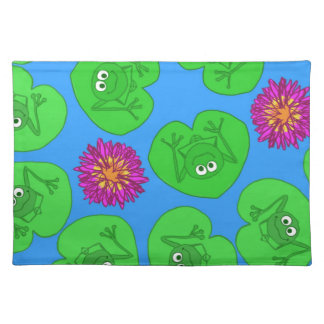 Cute frogs placemat