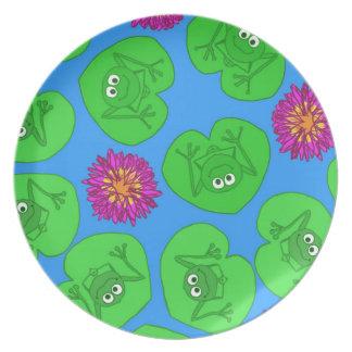 Cute frogs plate