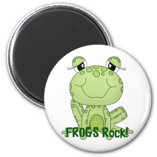 Cute Frogs Rock Love Frog Products 6 Cm Round Magnet