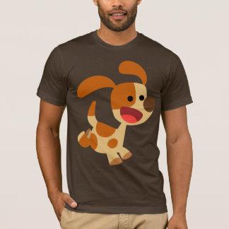 Cute Frolicking Cartoon Dog T-Shirt