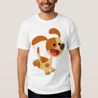 Cute Frolicking Cartoon Dog Women T-Shirt