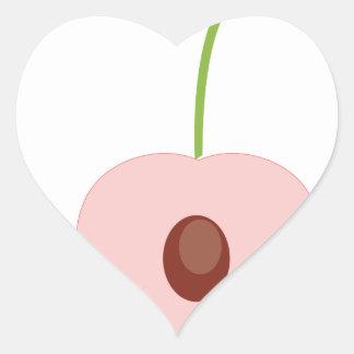 cute fruit design heart sticker