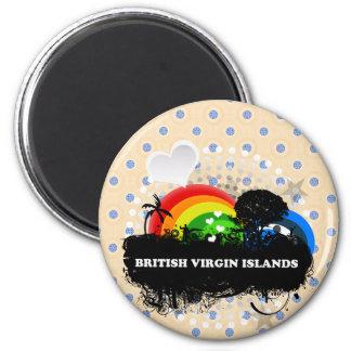 Cute Fruity British Virgin Islands 6 Cm Round Magnet