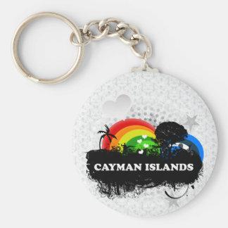 Cute Fruity Cayman Islands Key Ring
