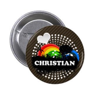 Cute Fruity Christian Pinback Button