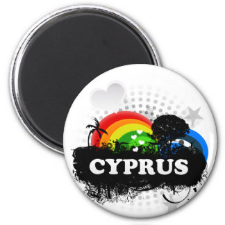 Cute Fruity Cyprus 6 Cm Round Magnet