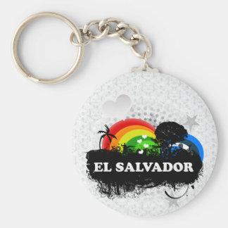 Cute Fruity El Salvador Basic Round Button Key Ring