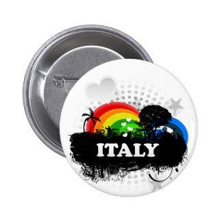 Cute Fruity Italy 6 Cm Round Badge