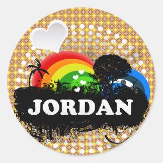 Cute Fruity Jordan Classic Round Sticker