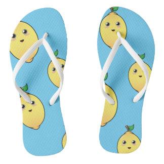 Cute Fruity Lemon Slippers Thongs