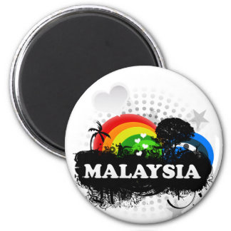Cute Fruity Malaysia 6 Cm Round Magnet