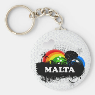 Cute Fruity Malta Basic Round Button Key Ring