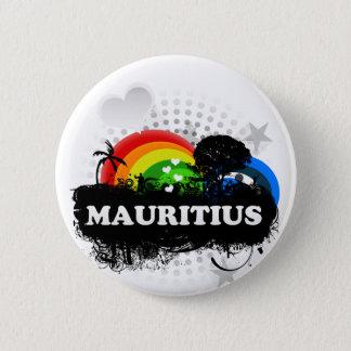 Cute Fruity Mauritius 6 Cm Round Badge