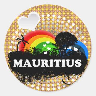 Cute Fruity Mauritius Classic Round Sticker