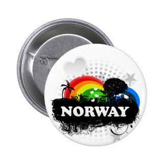 Cute Fruity Norway 6 Cm Round Badge