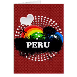 Cute Fruity Peru Card