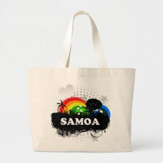 Cute Fruity Samoa Large Tote Bag