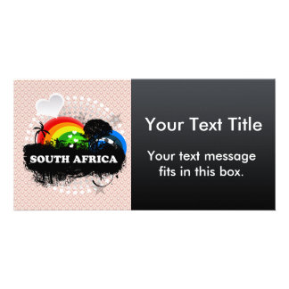Cute Fruity South Africa Personalised Photo Card