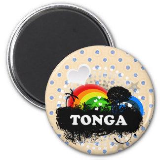 Cute Fruity Tonga 6 Cm Round Magnet