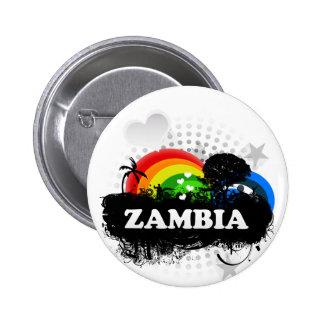 Cute Fruity Zambia Pinback Button