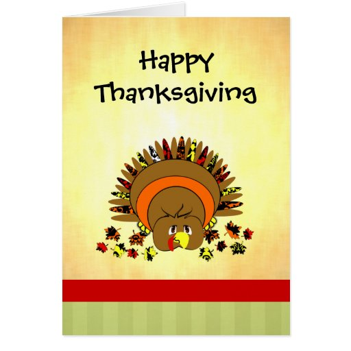Cute Full Color Turkey Greeting Cards