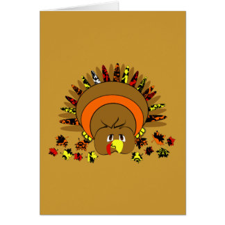 Cute Full Color Turkey Greeting Card
